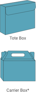 Tote Box and Carrier Box