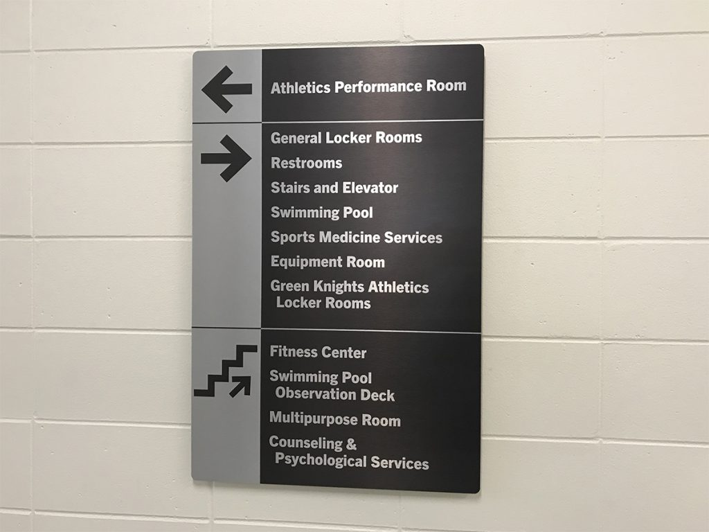 Brushed Aluminum Composite Directional Sign
